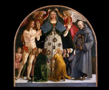 726px-Luca_Signorelli_-_Madonna_of_Mercy_and_Saints_Sebastian_and_Bernardino_da_Siena_-_Google_Art_Project Wikimedia Commons